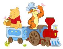 Tigger & Pooh on train