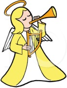 musical angel clipart
